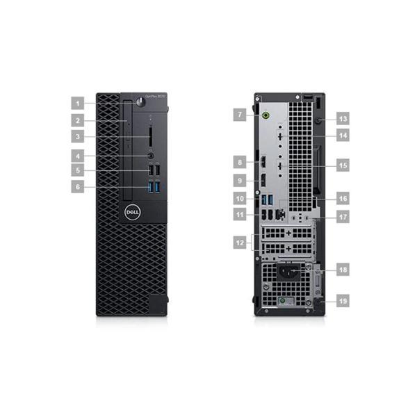 OptiPlex 3070 SFF 260175(i3-9100處理器/4G內存/M.2 256GB固態硬盤/集顯/硬盤保護/21.5顯示器)